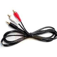 Wholesales 3.5mm 1 to 2 RCA cable 100 PCS Free Shipping(DHL)
