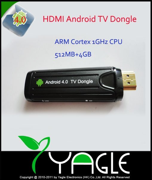 Free by DHL, Android 4.0 Google TV dongle,TV Box WIFI  HDMI ARM Cortex+1GHz+512MB+4GB,HD1080P+3D+Skype+MSN+YouTube