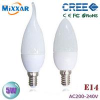 zk40 led candel bulb E14 5W 220v Candle Light LED candelabra bulb spot Light Led Candle