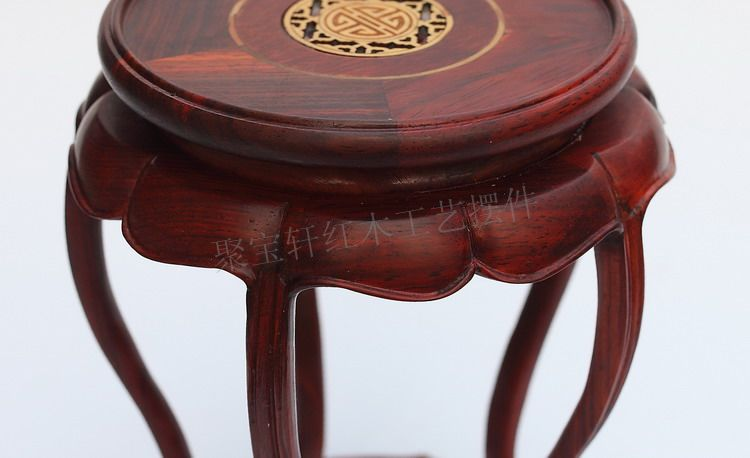 Redwood carved wooden furnishing articles wooden red acid branch stone crafts special circular base(China (Mainland))