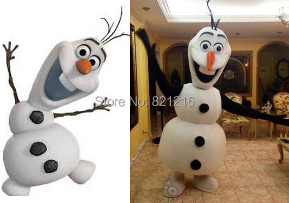 Custom Made Costume Dress Olaf Snowman Mascot Adult - trade store