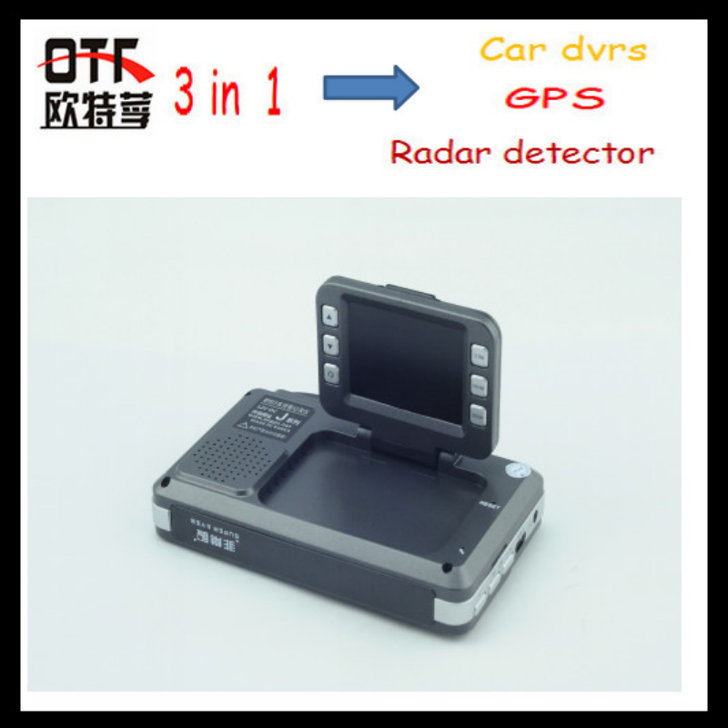 Car DVR Radar Detector / GPS With HD 720P 140 Degree Angle Russian Language 3 in 1 Video Recorder Free(China (Mainland))