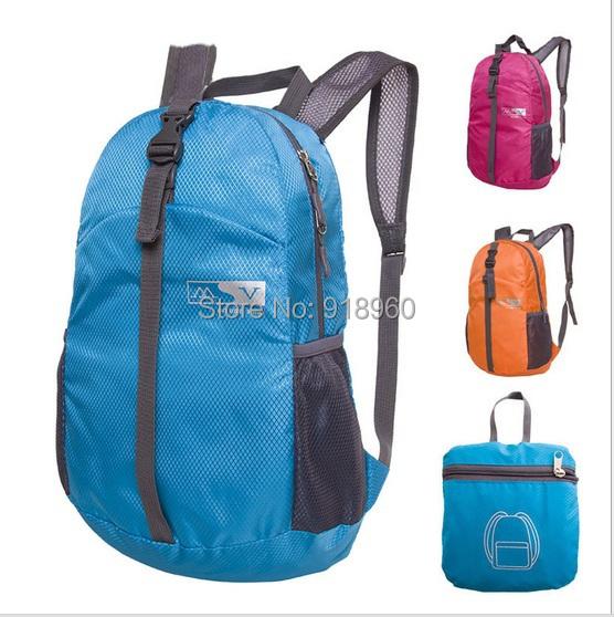 new school bags for women/ Waterproof light foldable backpack bike backpack camping bag,rugzak,BSS(China (Mainland))