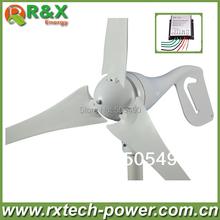 600 W generador de viento máximo, 3 cuchillas de viento generador de turbina, CE y aprobación de ROHS de energía eólica generador de viento + controlador.