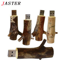 Buy JASTER Newest Novelty Flash disk natural Wooden model wood branch memory stick pendive 8GB 16GB 32GB thumb drive usb creative for $4.78 in AliExpress store