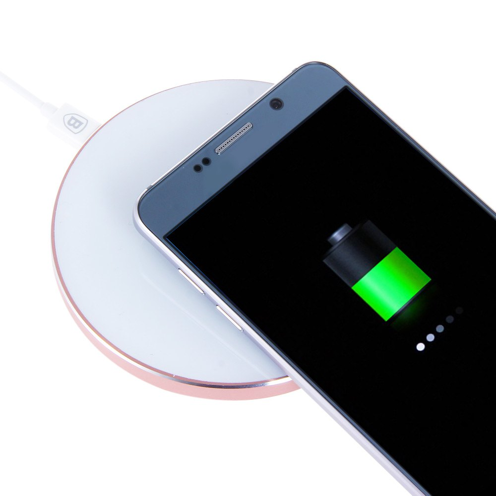 Baseus Round Plate Charging Pad Mobile phone Qi Wireless Charger For For SAMSUNG Galaxy S6 G9200 S6 Edge G9250 G920f