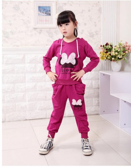 EMS/DHL Free shipping2013NEW!(3colors) summer girl Mickey set clothes+pants2 Piece Set girl kids wear 4set /lot#A306<br><br>Aliexpress