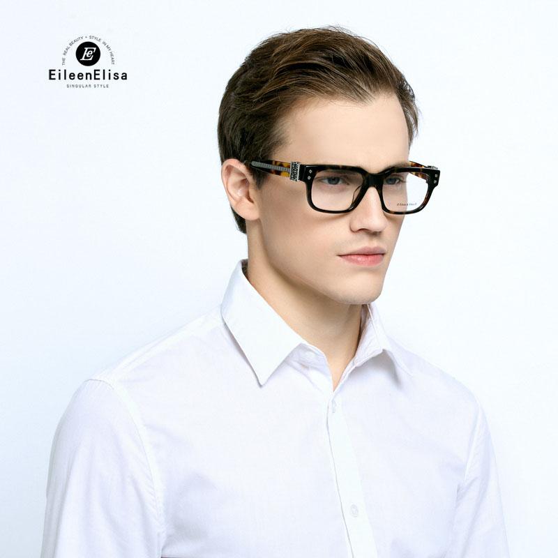 square full frame men glasses ee brand with logo oculos de sol width style frame leg