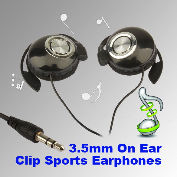 T2N2 Sport Earphone Clip On Sports Stereo Headphones Earphone For MP3 MP4 Player(China (Mainland))