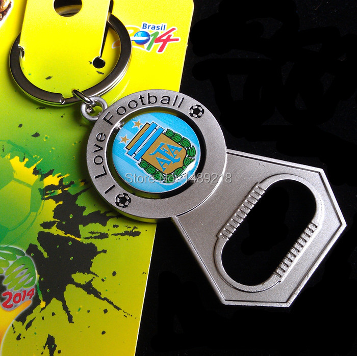 Brazil soccer team badge key chains keychains,football fans cup champions league souvenirs ,Argentina bottle opener key ring(China (Mainland))