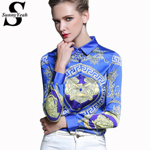 Buy Blusas 2017 New Summer Style Chiffon Shirt Women Long Sleeve Turn-down Collar Print Elegant Blouses Casual Shirts Women Clothes for $13.92 in AliExpress store
