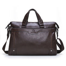 Men Leather Briefcase Vintage Laptop Briefcases Cow Split Leather Briefcase Computer Bag Male Shoulder Bag Mens Handbags(China (Mainland))