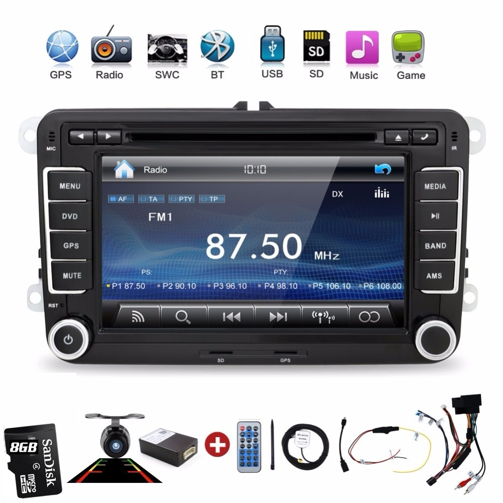 2 Din Car Dvd Player Pc Gps Navigation Stereo Video Multimedia Screen For VW/Volkswagen/Passat/POLO/GOLF/Skoda/Seat/sharan/jetta(China (Mainland))