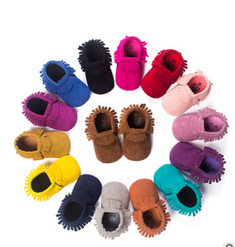 New PU Suede Leather Newborn Baby Boy Girl Baby Moccasins Soft Moccs Shoes Bebe Fringe Soft Soled Non-slip Footwear Crib Shoe