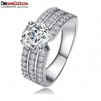 2016 Wholesale New Promotion Trendy 18K Gold/Platinum Plated AAA Zircon Women Jewelry Gift Rings Free Shipping Anillos CRI0012