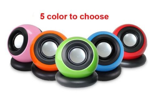 1pair USB Portable Mini Speaker For laptop notebook PC Loud speaker 5 color(China (Mainland))