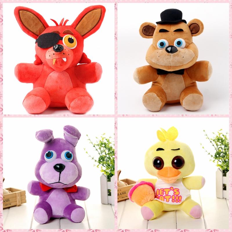 10 Five Nights At Freddys 4 FNAF Freddy Fazbear Bear Plush  teddy bear Toys Doll for kids baby christmas doll gifts<br><br>Aliexpress