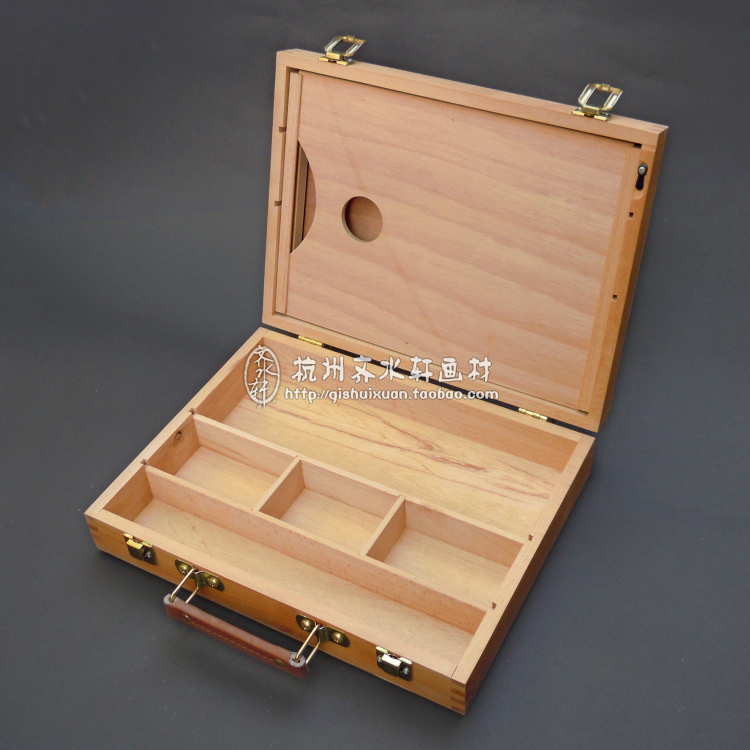 High Quality Artist Tabletop Wooden Easel Box With Handle