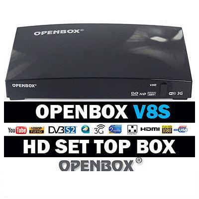 OPENBOX V8S Full HD 1080P High-Definition Wireless WIFI Satellite Receiver Freesat PVR TV Box EU-Plug