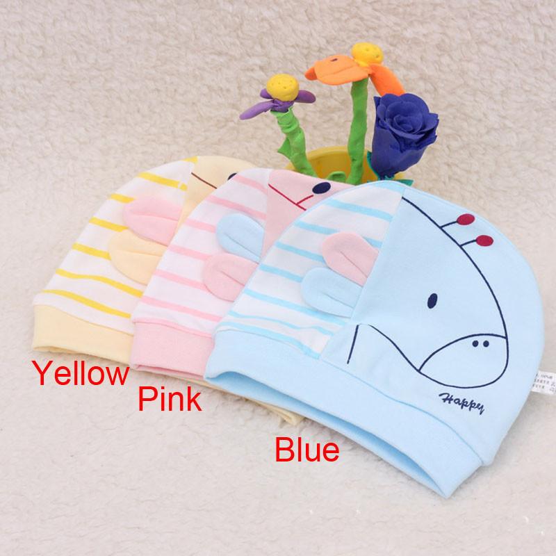 free shipping 200PCS/LOT Cute Newborn Infant Toddler Girl Boy Baby Cap Colt Dot Beanie Cotton Hat