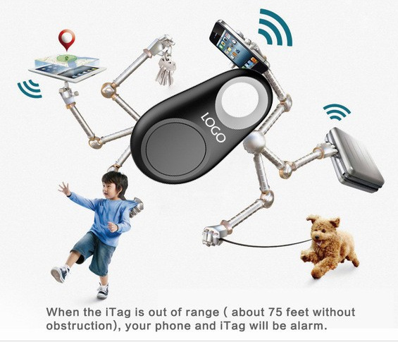 Wireless Bluetooth Tracker Anti lost alarm remote key finder GPS Anti-lost alarm for iPhone Samsung android with Battery Package(China (Mainland))