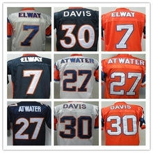 John Elway Terrell Davis Steve Atwater Men's Throwback Jersey Size 48-56(China (Mainland))