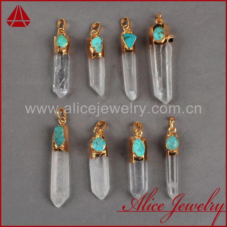 New Comimg Cluster Aura Druzy Pendant Fashion Druzy Quartz Crystal Point &amp; 100% Turquoise Pendant Golden Plated Drusy Jewelry<br><br>Aliexpress