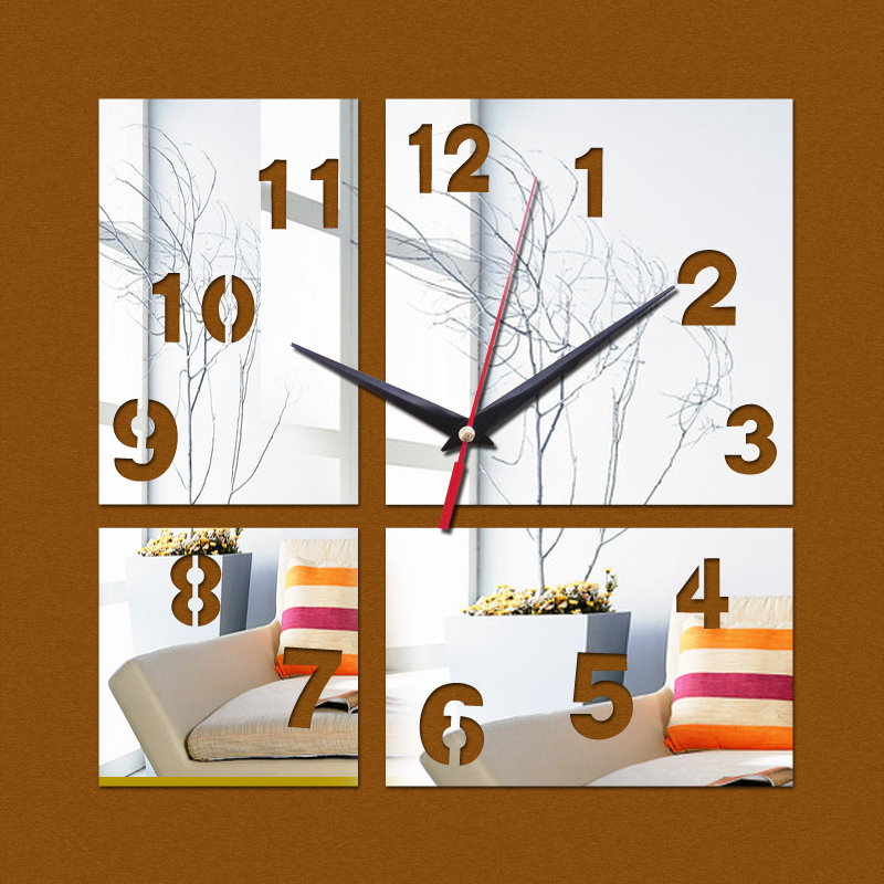 new clock on wall home decor multicolor acrylic hot sal