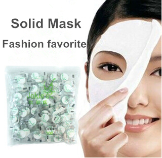 2015 Acne Sale Hot Unisex Whitening 10pcs Skin Care Diyl Facial Face Compressed Mask Paper Tablet Masque Treatment free Shipping(China (Mainland))