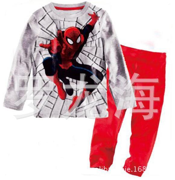 Crianças Spiderman pijamas Set meninos de calça blusa roupas Pijama marca Pijama de dormir produto(China (Mainland))