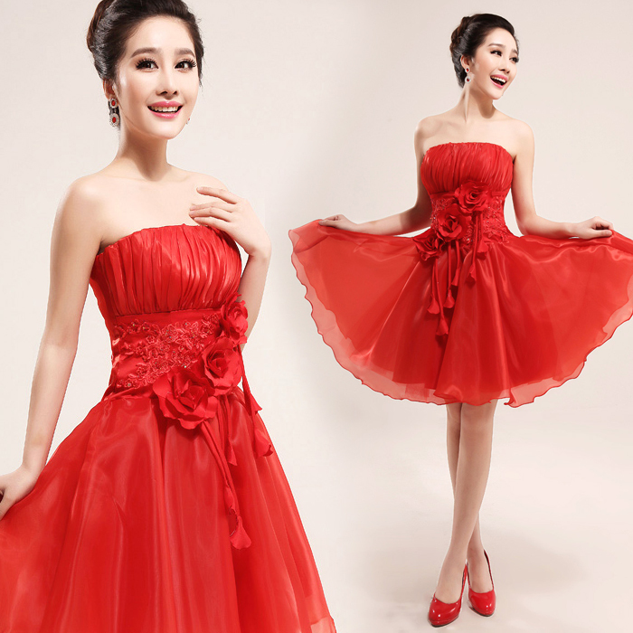 Red Sexy Short Wedding Dresses Quotes