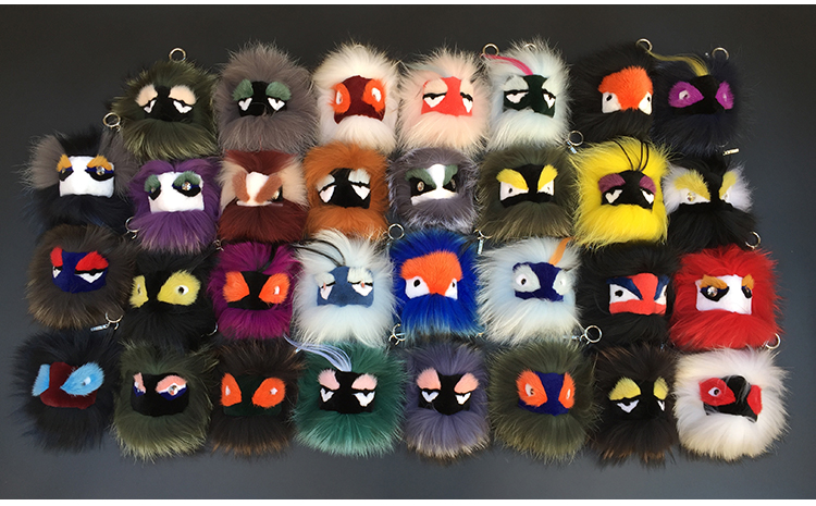 New Little Monster pendant strange spell color fur hair ornaments, dolls customized 100% real mink fur ball keychain fox EY-13<br><br>Aliexpress