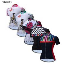 Buy TELEYI Women Summer Racing Cycling Jersey Shirts Bike Bicycle Sportswear Ropa Ciclismo Road Breathable Cycling Clothing 5 Style for $10.70 in AliExpress store