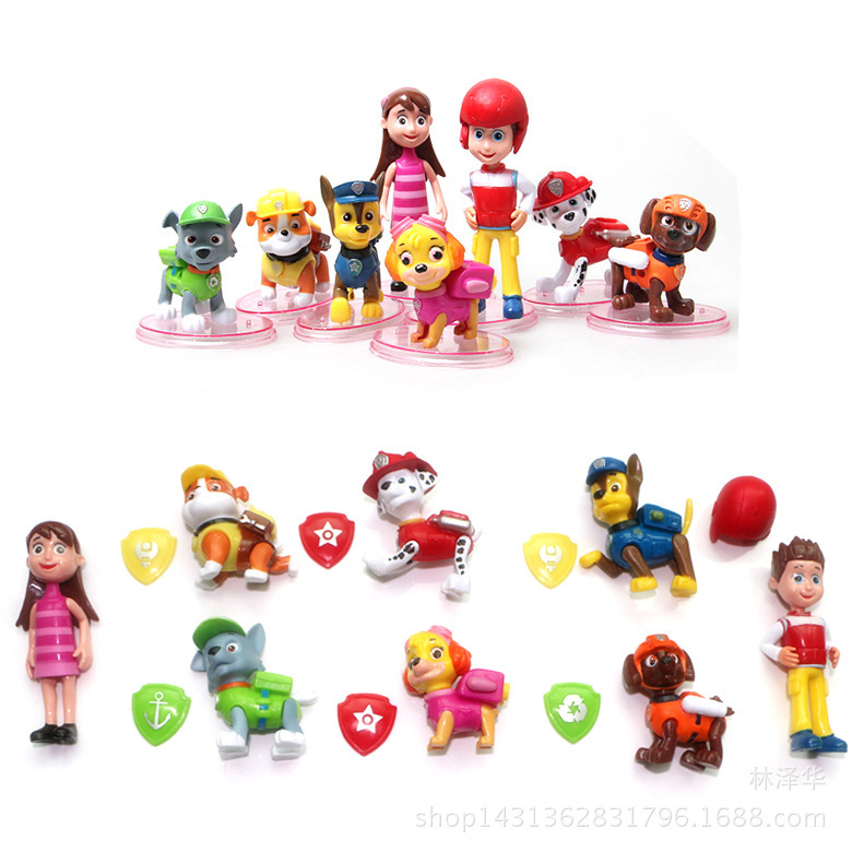 8pcs/lot juguetes Kids Toys Action Figure Animal patrulla canina toys Puppy Patrol Dogs Baby Gift Doll Birthday Movable Joints(China (Mainland))
