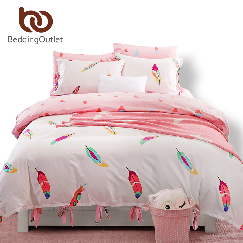 Light pink duvet cover promotion shop for promotional for Lit queen size taille