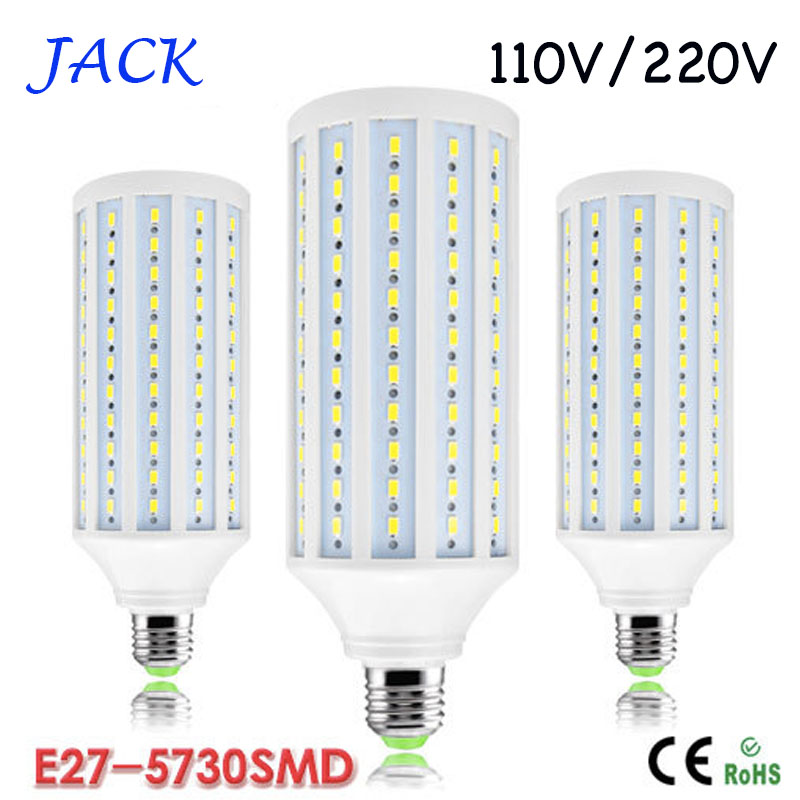 10pcs/lot high power 50W 165led 5730 5630 SMD Led Bulbs Light Corn Lamp E27 E26 E14 B22 Led Lights Warm/Cool White AC110V/220V(China (Mainland))