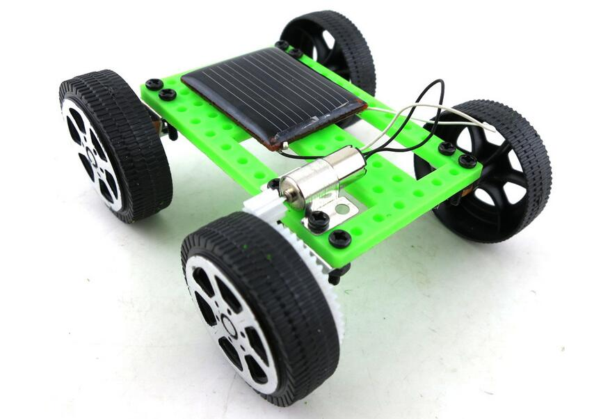 Mini solar cars 2 toys, DIY small manufacture technology Assembled educational interest model(China (Mainland))