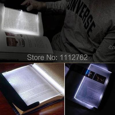 Free Shipping Magic Night Vision Light LED Reading Book Flat Plate Portable Car Travel Panel NyDPd(China (Mainland))