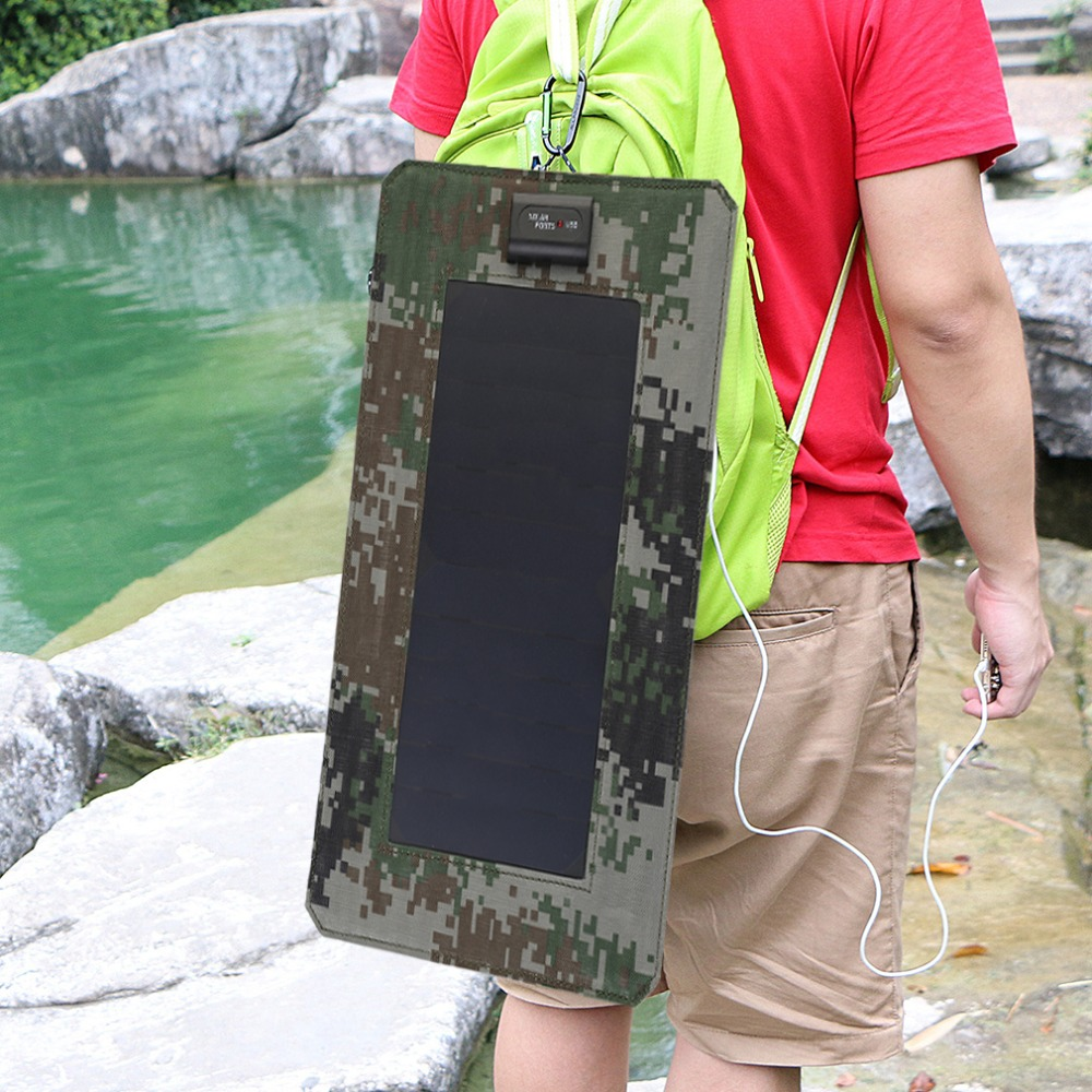 New USB Power Panel External Solar Battery Charger Phone Outdoor Backpack free shipping<br><br>Aliexpress