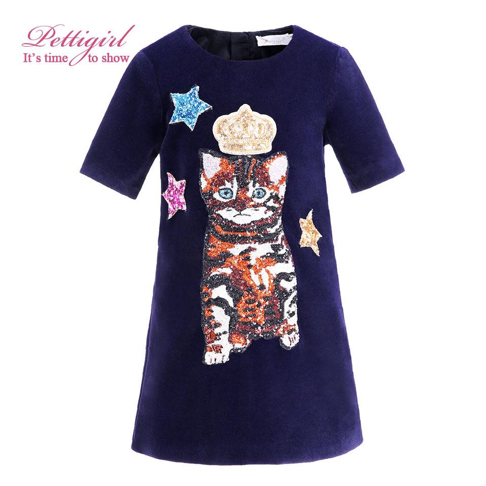 Pettigirl Autumn Black Girl Tank Dress With Crown Stat Cat Patter Causal Kids Dresses Children Wear G-DMGD908-837(China (Mainland))