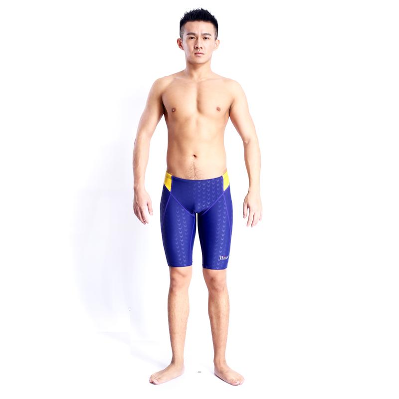 HXBY swimming jammers mens sharkskin swim shorts swimwear men - Taurus Sport Goods Limited store