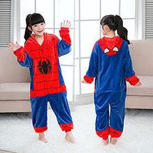 Crianças Kigurumi Pijama Unicórnio Ponto Panda Meninos Meninas Pijamas de Inverno Pijamas de Flanela Onesies Animais Crianças Onesie 4-12 Sim(China)