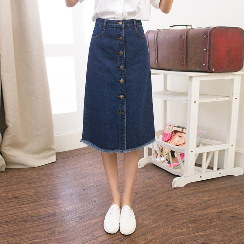 get cheap denim midi skirt aliexpress