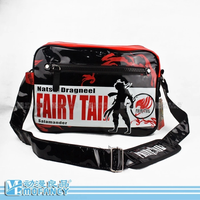2014 Hot selling the cartoon FAIRY TAIL (GOBLINS TAIL) leisure fashion boy gift one shoulder bagpack PVC leather bag(China (Mainland))