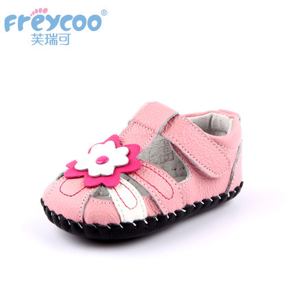 Freycoo genuine leather infant baby shoes soft and light girl's shoes first walkers 1167(China (Mainland))