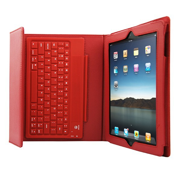 Nice General silicone waterproof wireless bluetooth keyboard case for ipad 2 3 4,tablet leather case(China (Mainland))