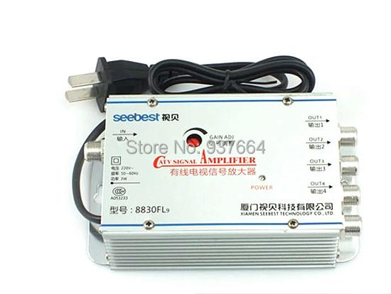 Гаджет  4 Way CATV VCR TV Antenna Signal Amplifier Booster Splitter 30DB 45-880MHz FREQ  None Электронные компоненты и материалы