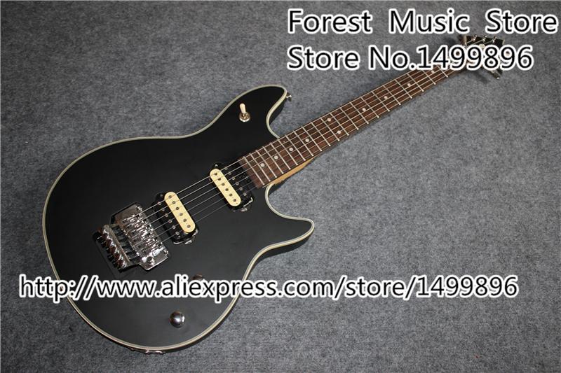 Custom Shop Black Electric Guitar Silver Floyd Rose Tremolo Wolfgang EVH Guitars China Kits & Body Available(China (Mainland))