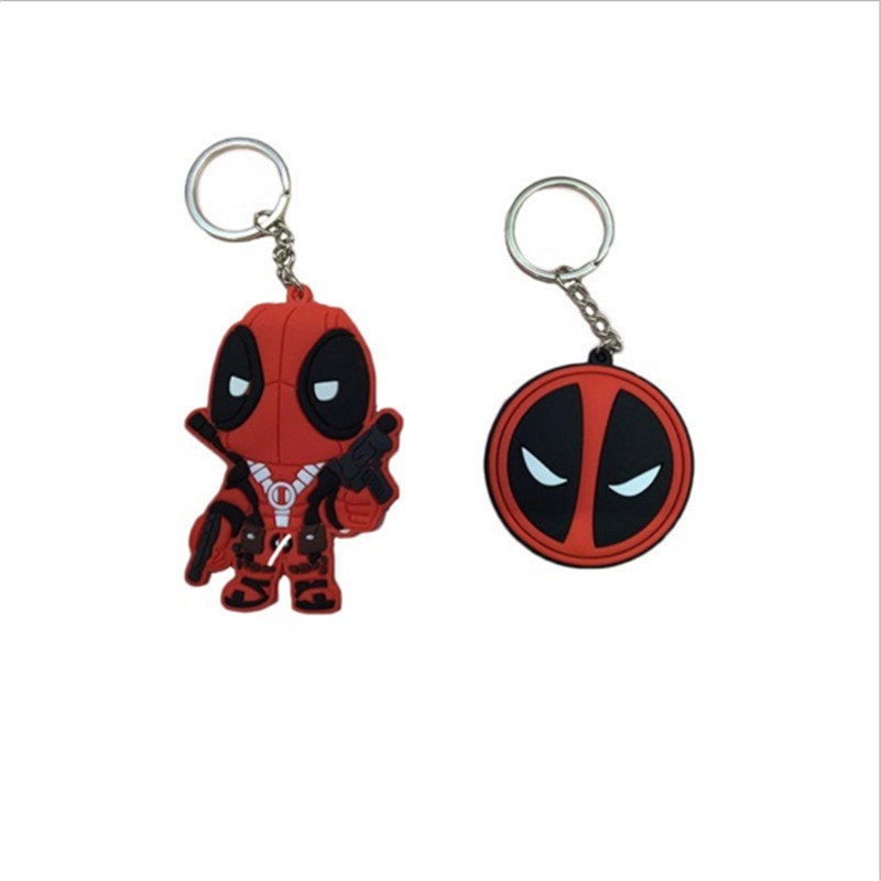 1PCS Marvel Deadpool X-men Metal PVC Figure Toy Keychains Pendants 2 Styles 5cm/8cm(China (Mainland))