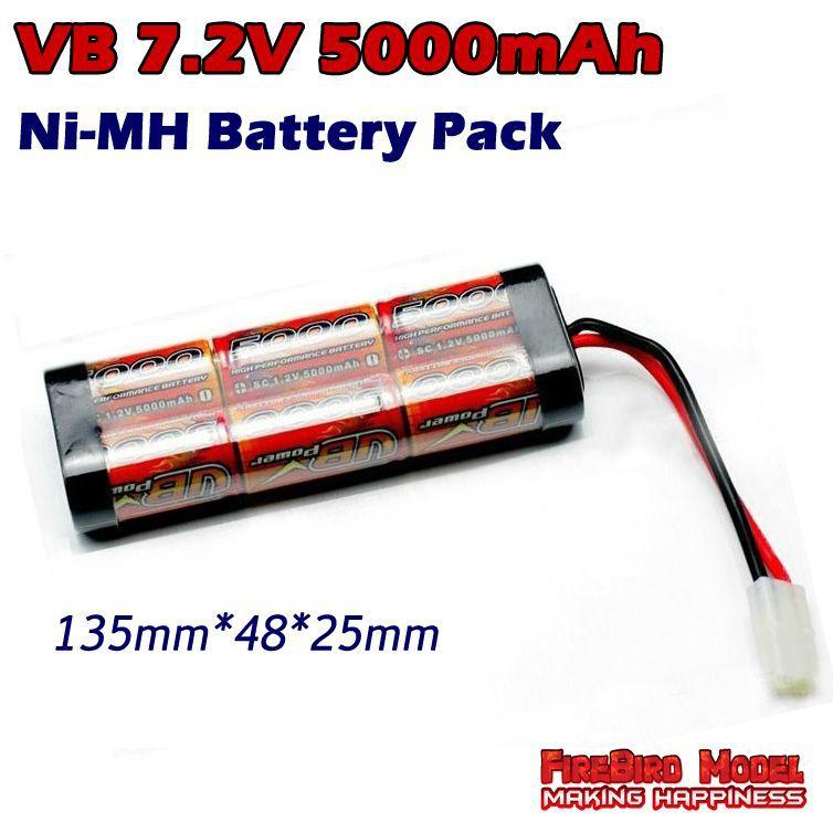 VB SC 5000MAH 7.2V NiMH battery Pack for Rc Car Truck Buggy boat(China (Mainland))